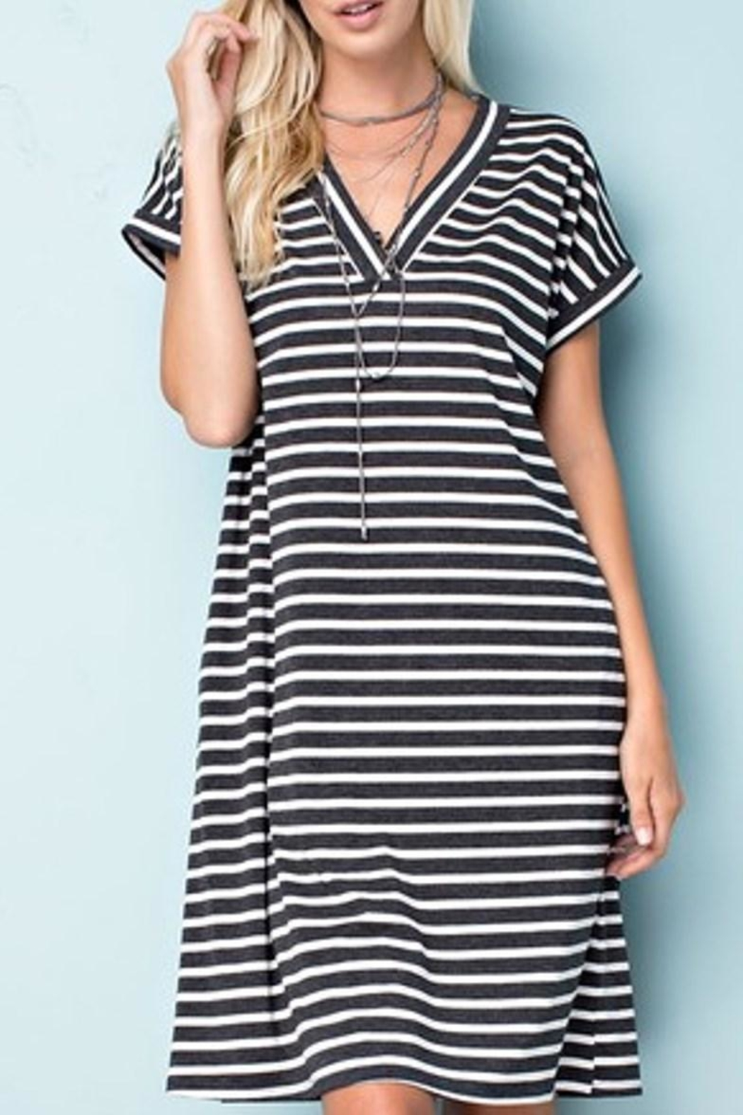 143 Story Striped Jersey Dress - Main Image