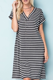 143 Story Striped Jersey Dress - Front cropped