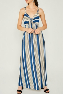 Hayden Striped Jersey-Knit Tie-Front-Dress - Product List Image