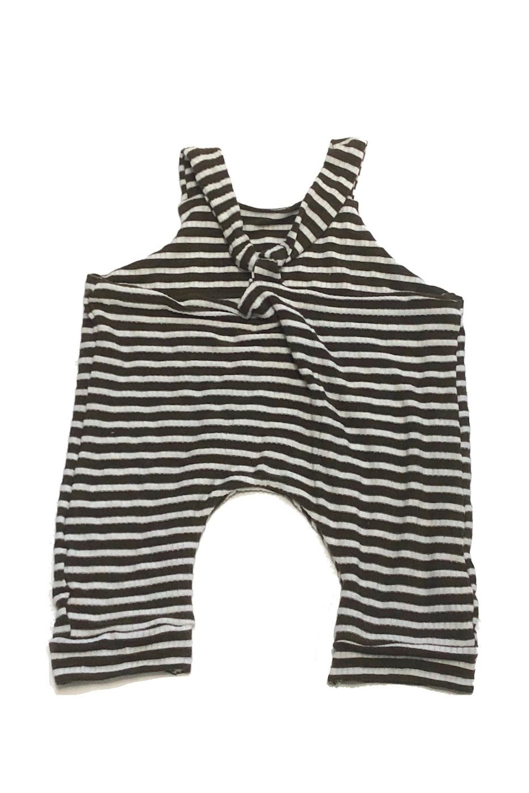 Hankie Babies Striped Jersey Romper - Front Full Image