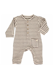 Me & Henry Striped Jersey Romper - Front cropped