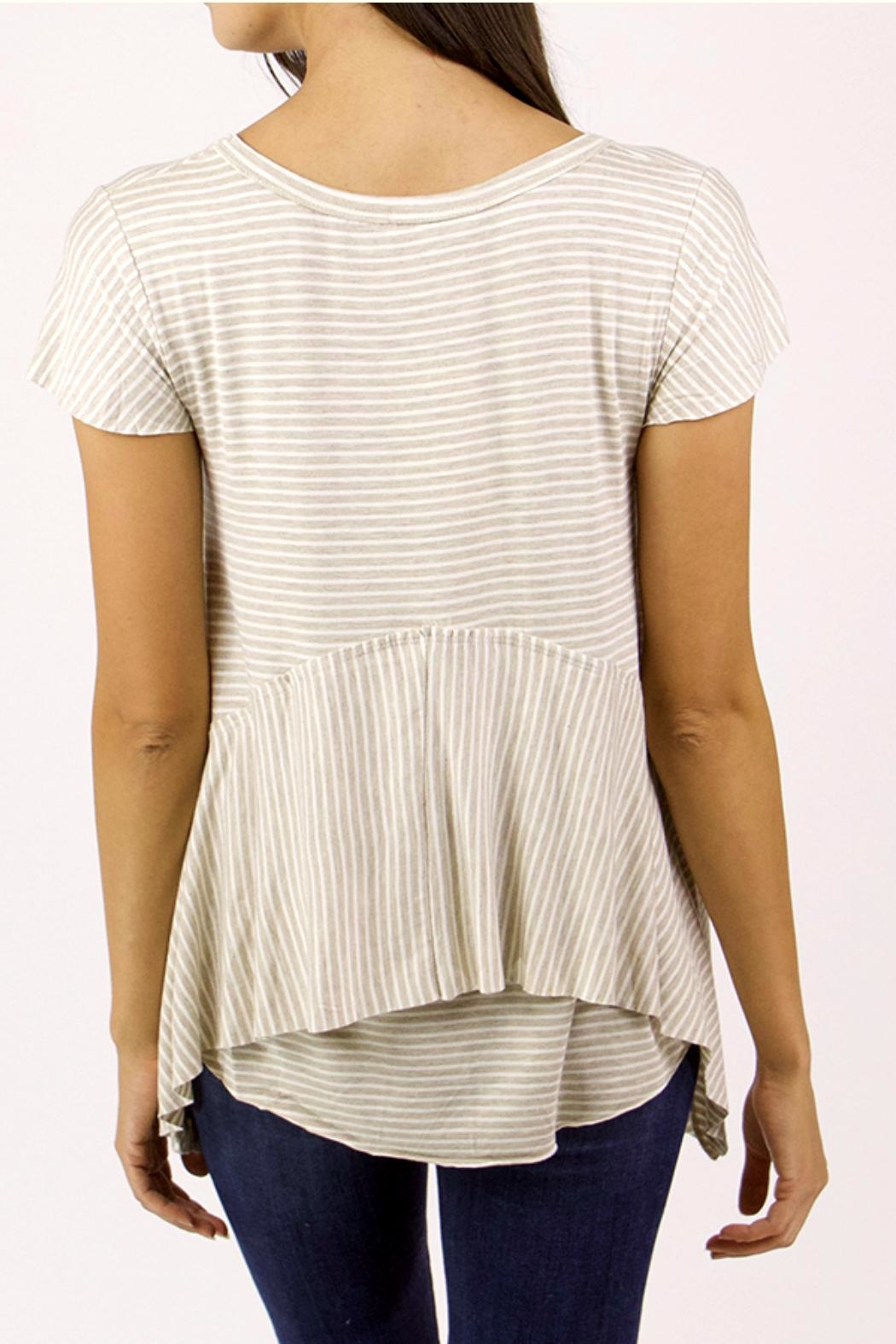 Grace & Lace Striped Jersey Tee - Front Full Image