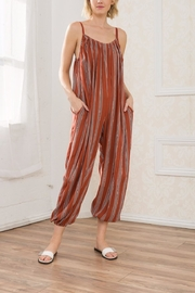 Mystree Striped Jumpsuit - Product Mini Image