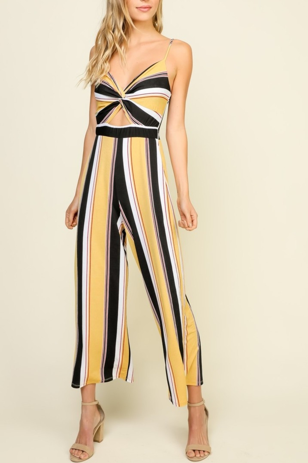 Timing Striped Jumpsuit - Main Image