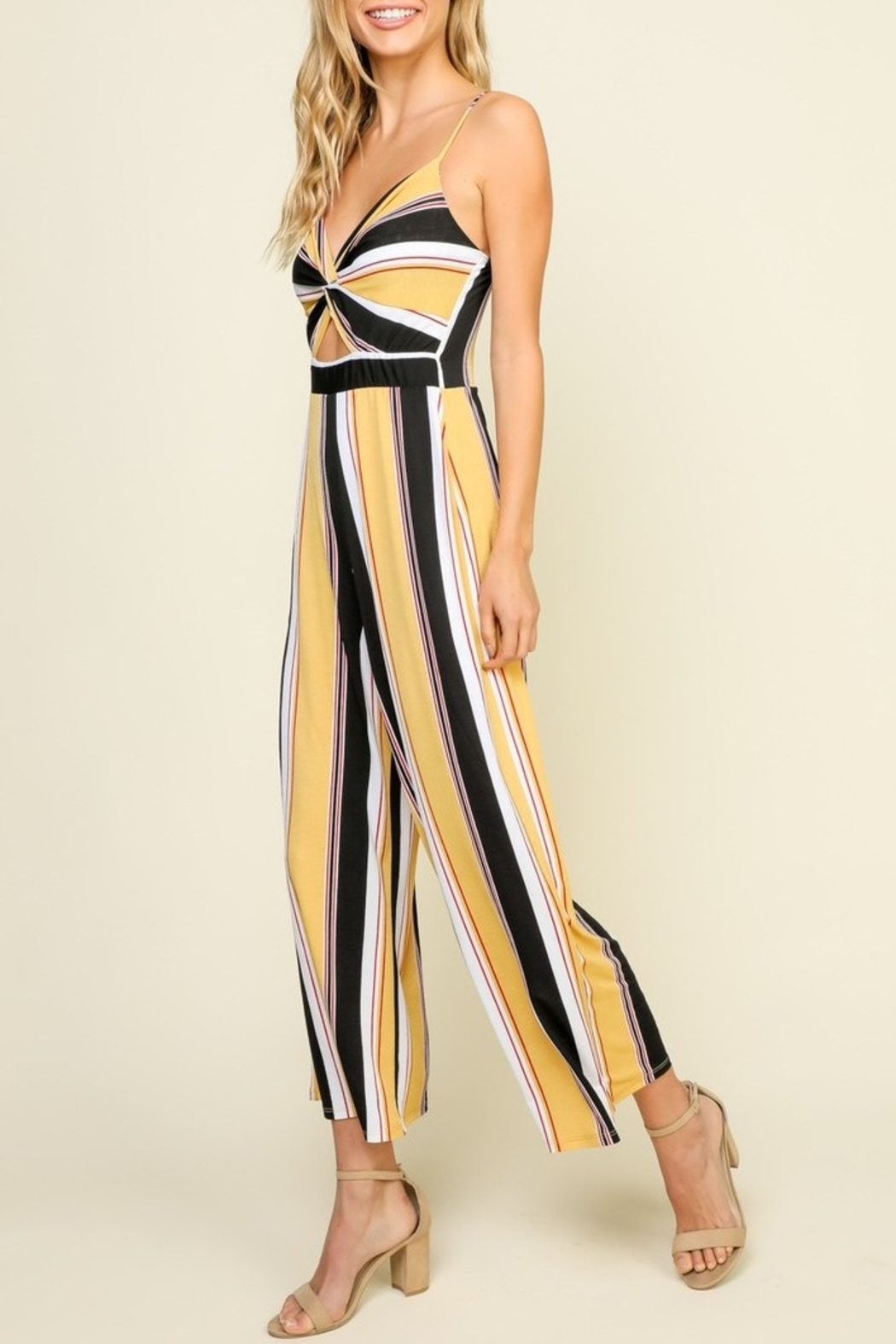 Timing Striped Jumpsuit - Side Cropped Image