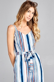 hummingbird Striped Jumpsuit - Side cropped