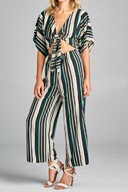 Style Rack Striped Jumpsuit - Front cropped