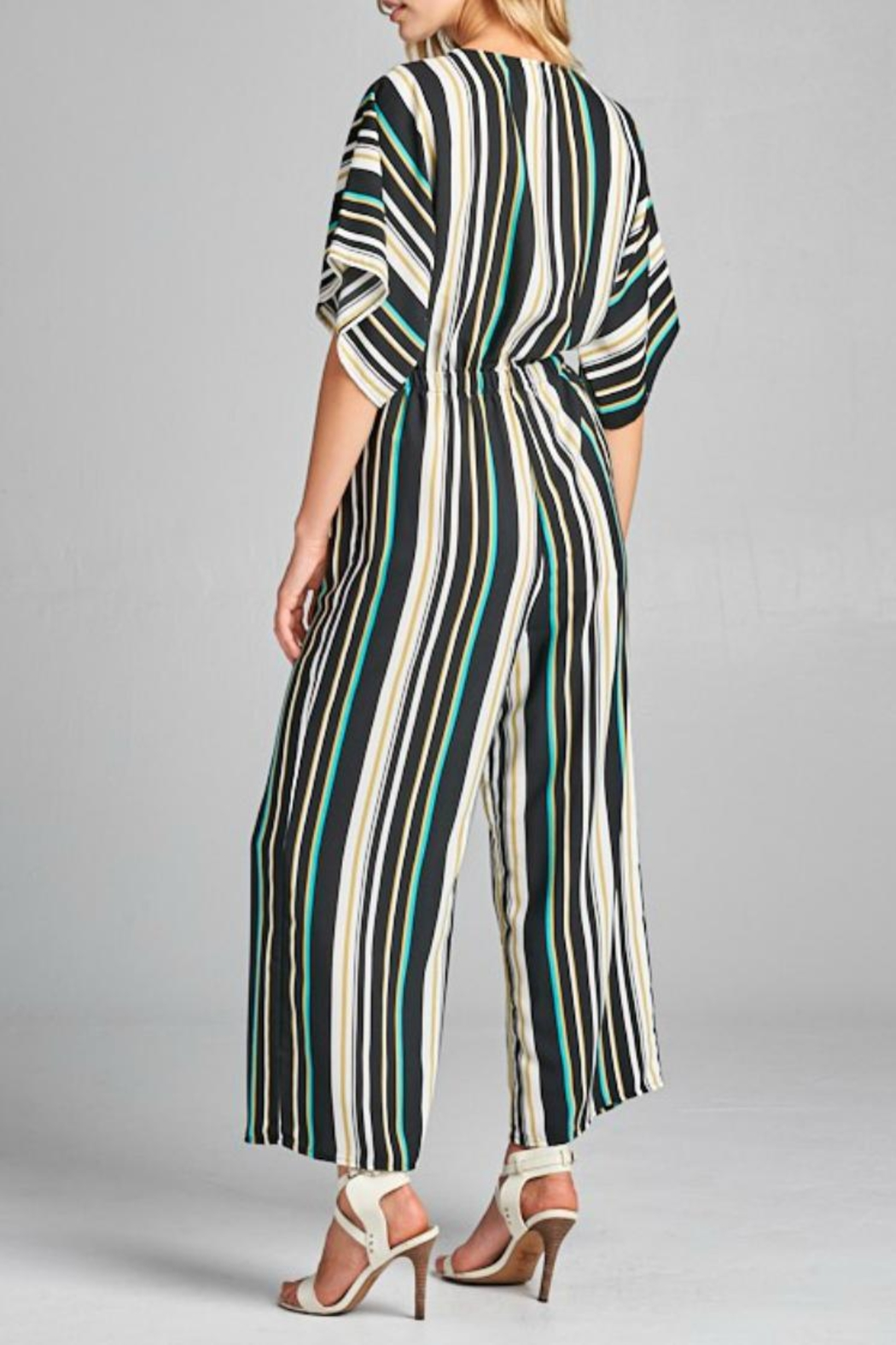 Style Rack Striped Jumpsuit - Front Full Image