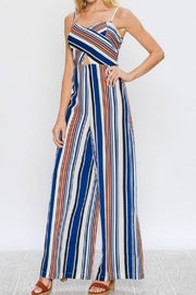 Flying Tomato Striped Jumsuit - Side cropped