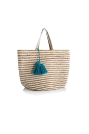 Shiraleah Striped Jute Tote - Product Mini Image
