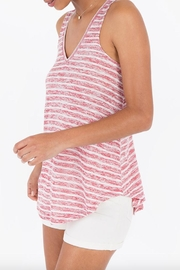 rag poets Striped Keyhole-Back Tank - Front full body