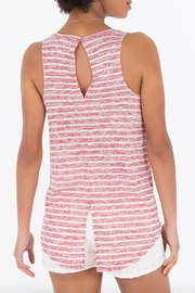 rag poets Striped Keyhole-Back Tank - Side cropped