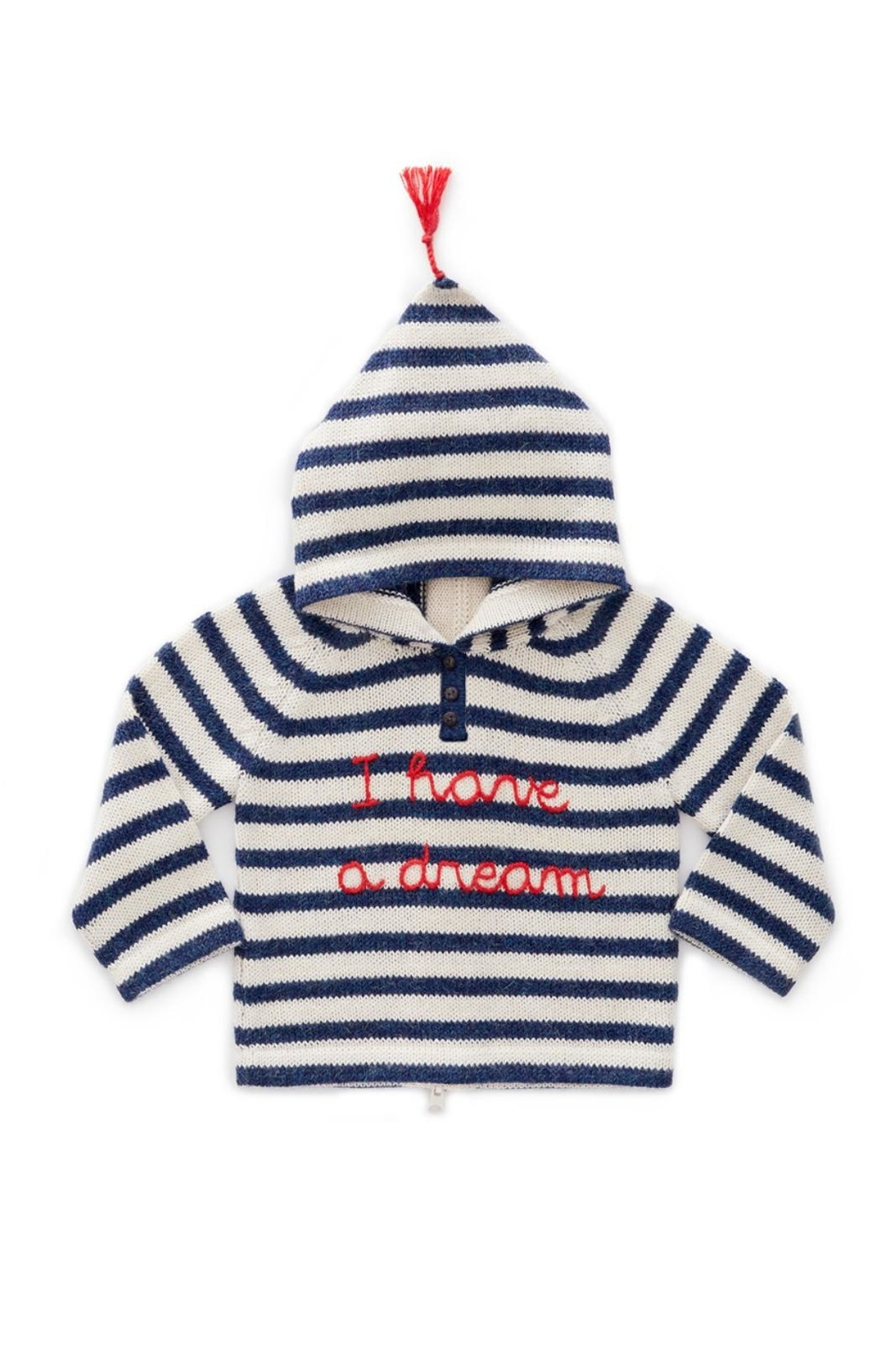 Oeuf Striped Kids' Hoodie - Front Cropped Image