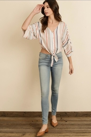dress forum Striped Kimono Blouse - Product Mini Image