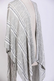 Miss Darlin Striped Kimono Cardigan - Front cropped