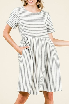 Ces Femme Striped Knit Bib-Dress - Product List Image