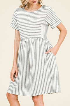 Ces Femme Striped Knit Bib-Dress - Alternate List Image