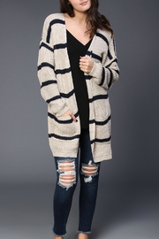 Fascination Striped Knit Cardigan - Product Mini Image