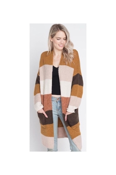 Dreamers Striped Knit Cardigan - Product List Image