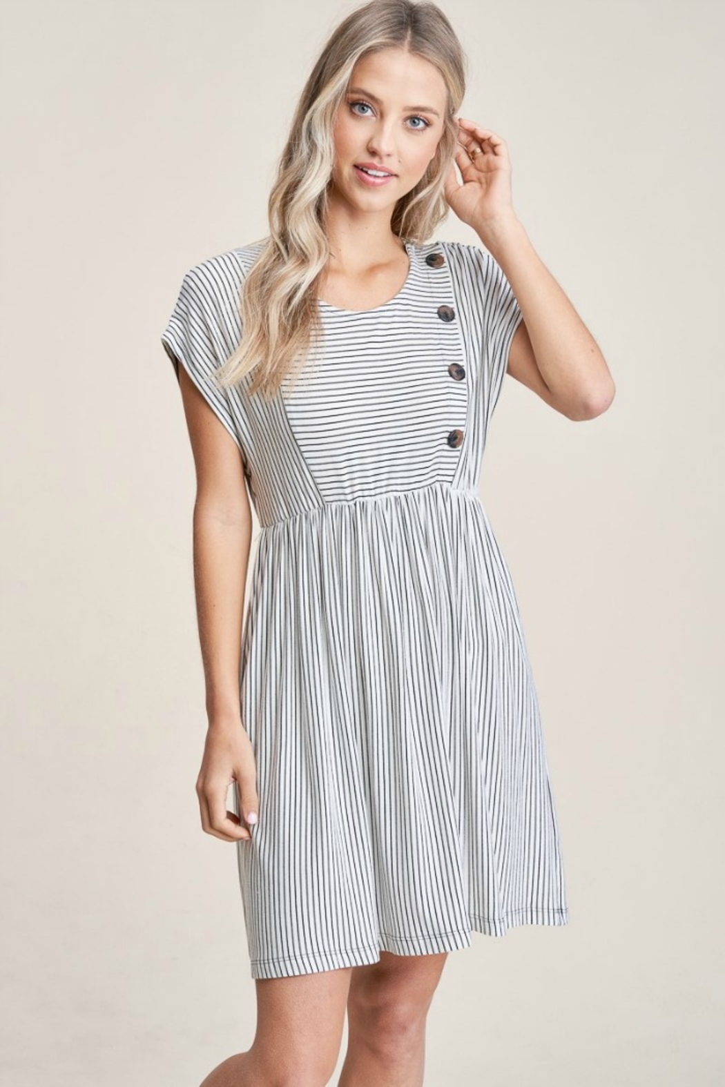 Staccato Striped Knit Dress - Main Image