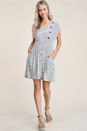 Staccato Striped Knit Dress - Other