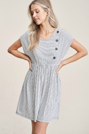Staccato Striped Knit Dress - Front full body