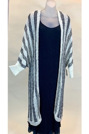 Mystree STRIPED KNIT DUSTER - Product Mini Image