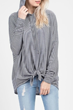 MTS Striped-Knit Hooded Top - Product List Image