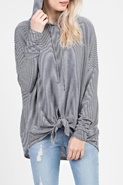 MTS Striped-Knit Hooded Top - Product Mini Image