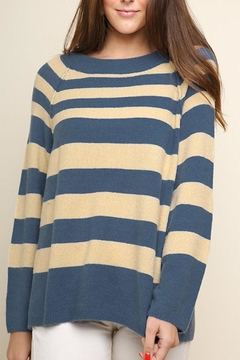 Umgee USA Striped Knit Pullover - Product List Image