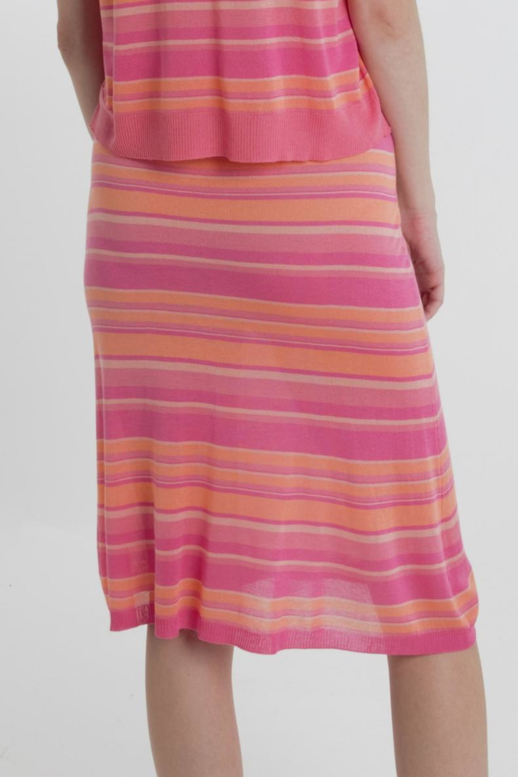 Thread+Onion Striped Knit Skirt - Side Cropped Image