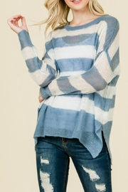 Timing Striped Knit Sweater - Product Mini Image