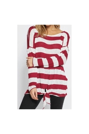 Bibi Striped Knit Top - Product Mini Image