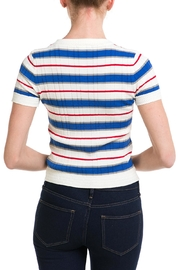 Lumiere Striped Knit Top - Back cropped