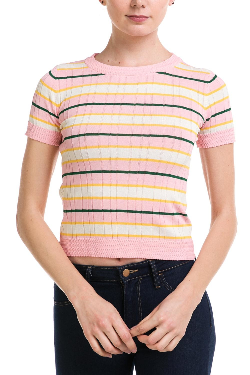 Lumiere Striped Knit Top - Main Image