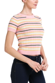 Lumiere Striped Knit Top - Front full body