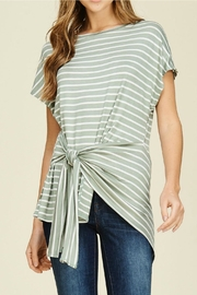 White Birch Striped Knit Top - Product Mini Image