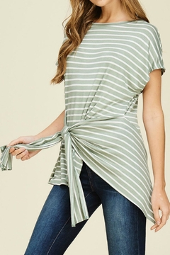 White Birch Striped Knit Top - Alternate List Image