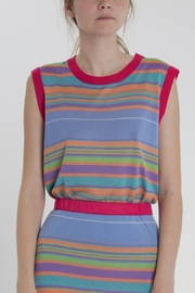 Thread+Onion Striped Knit Top - Side cropped