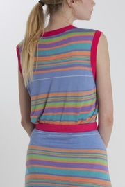 Thread+Onion Striped Knit Top - Back cropped