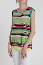 Thread+Onion Striped Knit Top - Product Mini Image