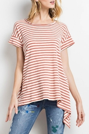 easel Striped Knit Top - Product Mini Image