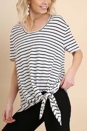 Umgee USA Striped Knot Tee - Product Mini Image