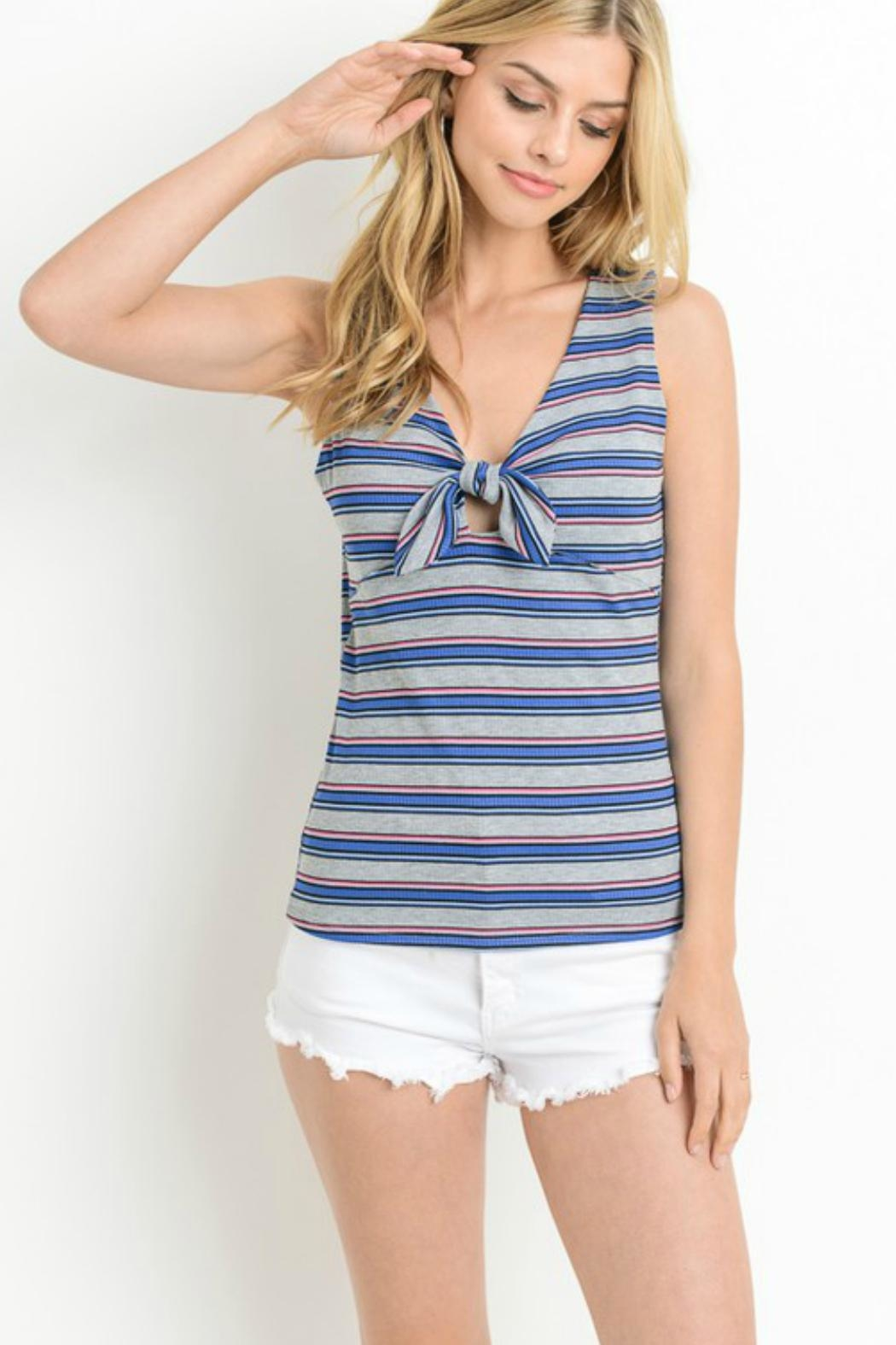 Le Lis Striped Knotted Tank - Main Image
