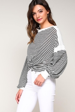 Shoptiques Product: Striped Knotted Top