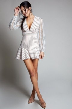 Shoptiques Product: Striped Lace Dress