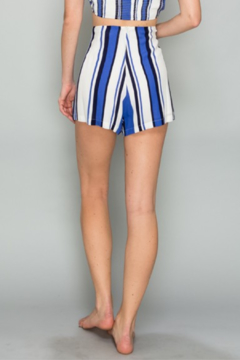 AAKAA Striped Lace Up Short - Alternate List Image