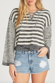 Billabong Striped Lace-Up Sweater - Product Mini Image