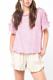 Very J Striped Laceup Top - Product Mini Image