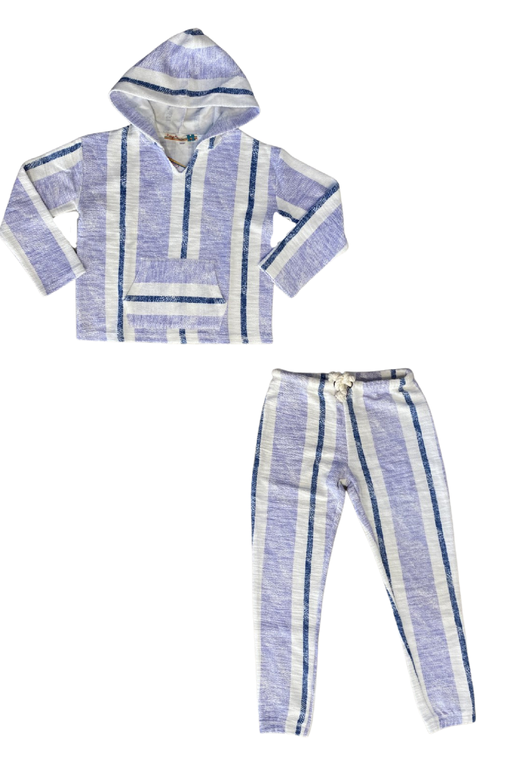 Vintage Havana  Striped Lagoon Jogger - Side Cropped Image